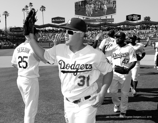 Los Angeles Dodgers beat the Chicago Cubs 1-0 Sunday, August 28, 2016 at Dodger Stadium in Los Angeles,California. Photo by Jon SooHoo/©Los Angeles Dodgers,LLC 2016