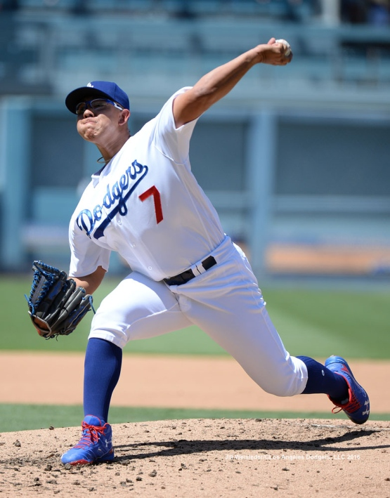 Pitcher Julio Urias comes in to pitch in the third inning. Jill Weisleder/Dodgers