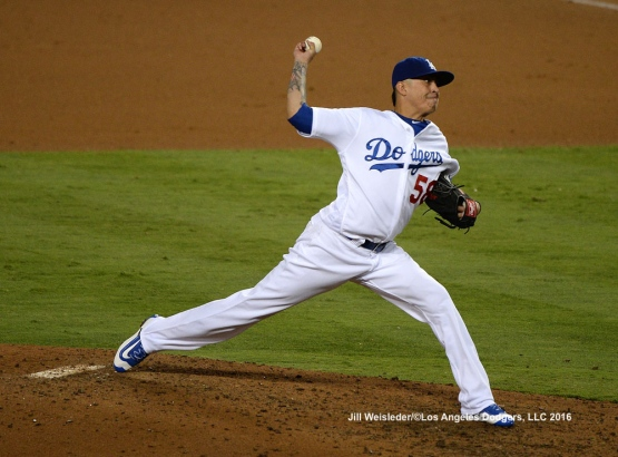 Jesse Chavez throws on the mound. Jill Weisleder/Dodgers