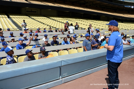 PLAY Campaign Saturday September 3, 2016 at Dodger Stadium in Los Angeles,California. Photo by Jon SooHoo/©Los Angeles Dodgers,LLC 2016