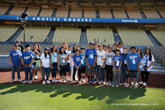 prior to game against the San Diego Padres Saturday September 3, 2016 at Dodger Stadium in Los Angeles,California. Photo by Jon SooHoo/©Los Angeles Dodgers,LLC 2016
