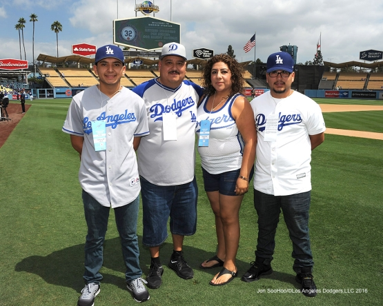 Great Los Angeles Dodger fans pose prior to game against the San Diego Padres Sunday, September 4, 2016 at Dodger Stadium. Photo by Jon SooHoo/©Los Angeles Dodgers,LLC 2016