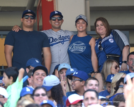 Great Los Angeles Dodger fans during game against the San Diego Padres Sunday, September 4, 2016 at Dodger Stadium. Photo by Jon SooHoo/©Los Angeles Dodgers,LLC 2016