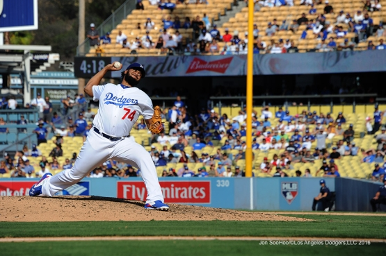 Kenley Jasen  during game against the San Diego Padres Sunday, September 4, 2016 at Dodger Stadium. Photo by Jon SooHoo/©Los Angeles Dodgers,LLC 2016