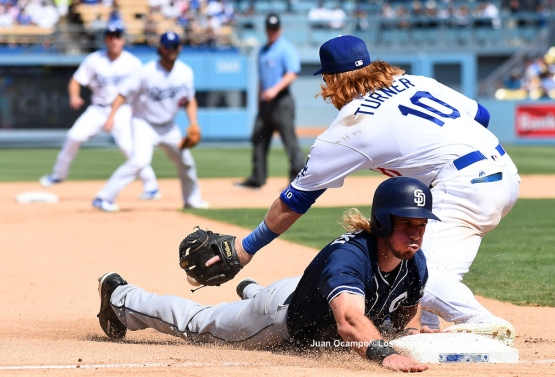 The Padres' Travis Jankowski slides into third base safely under the tag of Justin Turner. LOS ANGELES - AUGUST 23:  San Francisco Giants against the Los Angeles Dodgers on August 24, 2016 at Dodger Stadium in Los Angeles, California. LOS ANGELES - AUGUST 23:  San Francisco Giants against the Los Angeles Dodgers on August 24, 2016 at Dodger Stadium in Los Angeles, California. LOS ANGELES - AUGUST 23:  San Francisco Giants against the Los Angeles Dodgers on August 24, 2016 at Dodger Stadium in Los Angeles, California. LOS ANGELES - AUGUST 23:  San Francisco Giants against the Los Angeles Dodgers on August 24, 2016 at Dodger Stadium in Los Angeles, California. LOS ANGELES - AUGUST 24:  San Francisco Giants against the Los Angeles Dodgers on August 24, 2016 at Dodger Stadium in Los Angeles, California. LOS ANGELES - AUGUST 24:  San Francisco Giants against the Los Angeles Dodgers on August 24, 2016 at Dodger Stadium in Los Angeles, California. LOS ANGELES - AUGUST 23:  San Francisco Giants against the Los Angeles Dodgers on August 24, 2016 at Dodger Stadium in Los Angeles, California. LOS ANGELES - AUGUST 23:  San Francisco Giants against the Los Angeles Dodgers on August 24, 2016 at Dodger Stadium in Los Angeles, California. LOS ANGELES - AUGUST 23:  San Francisco Giants against the Los Angeles Dodgers on August 24, 2016 at Dodger Stadium in Los Angeles, California. LOS ANGELES - AUGUST 23:  San Francisco Giants against the Los Angeles Dodgers on August 24, 2016 at Dodger Stadium in Los Angeles, California. LOS ANGELES - AUGUST 24:  San Francisco Giants against the Los Angeles Dodgers on August 24, 2016 at Dodger Stadium in Los Angeles, California. LOS ANGELES - AUGUST 23:  San Francisco Giants against the Los Angeles Dodgers on August 24, 2016 at Dodger Stadium in Los Angeles, California. LOS ANGELES - AUGUST 23:  San Francisco Giants against the Los Angeles Dodgers on August 24, 2016 at Dodger Stadium in Los Angeles, California. LOS ANGELES - AUGUST 23:  San Francisco Giants against the Los Angeles Dodgers on August 24, 2016 at Dodger Stadium in Los Angeles, California. LOS ANGELES - AUGUST 23:  San Francisco Giants against the Los Angeles Dodgers on August 24, 2016 at Dodger Stadium in Los Angeles, California. LOS ANGELES - AUGUST 24:  San Francisco Giants against the Los Angeles Dodgers on August 24, 2016 at Dodger Stadium in Los Angeles, California. LOS ANGELES - AUGUST 23:  San Francisco Giants against the Los Angeles Dodgers on August 24, 2016 at Dodger Stadium in Los Angeles, California. LOS ANGELES - AUGUST 23:  San Francisco Giants against the Los Angeles Dodgers on August 24, 2016 at Dodger Stadium in Los Angeles, California. LOS ANGELES - AUGUST 23:  San Francisco Giants against the Los Angeles Dodgers on August 24, 2016 at Dodger Stadium in Los Angeles, California. LOS ANGELES - AUGUST 23:  San Francisco Giants against the Los Angeles Dodgers on August 24, 2016 at Dodger Stadium in Los Angeles, California. LOS ANGELES - AUGUST 23:  San Francisco Giants against the Los Angeles Dodgers on August 24, 2016 at Dodger Stadium in Los Angeles, California. LOS ANGELES - AUGUST 23:  San Francisco Giants against the Los Angeles Dodgers on August 24, 2016 at Dodger Stadium in Los Angeles, California. LOS ANGELES - AUGUST 23:  San Francisco Giants against the Los Angeles Dodgers on August 24, 2016 at Dodger Stadium in Los Angeles, California. LOS ANGELES - AUGUST 23:  San Francisco Giants against the Los Angeles Dodgers on August 24, 2016 at Dodger Stadium in Los Angeles, California. LOS ANGELES - AUGUST 24:  San Francisco Giants against the Los Angeles Dodgers on August 24, 2016 at Dodger Stadium in Los Angeles, California. LOS ANGELES - AUGUST 23:  San Francisco Giants against the Los Angeles Dodgers on August 24, 2016 at Dodger Stadium in Los Angeles, California. LOS ANGELES - AUGUST 23:  San Francisco Giants against the Los Angeles Dodgers on August 24, 2016 at Dodger Stadium in Los Angeles, California. LOS ANGELES - AUGUST 23:  San Francisco Giants against the Los Angeles Dodgers on August 24, 2016 at Dodger Stadium in Los Angeles, California. LOS ANGELES - AUGUST 23:  San Francisco Giants against the Los Angeles Dodgers on August 24, 2016 at Dodger Stadium in Los Angeles, California. LOS ANGELES - AUGUST 23:  San Francisco Giants against the Los Angeles Dodgers on August 24, 2016 at Dodger Stadium in Los Angeles, California. LOS ANGELES - SEPTEMBER 1:  Los Angeles Dodgers Bark In The Park event on September 1, 2012 at Dodger Stadium in Los Angeles, California.LOS ANGELES - AUGUST 24:  San Francisco Giants against the Los Angeles Dodgers on August 24, 2016 at Dodger Stadium in Los Angeles, California. LOS ANGELES - AUGUST 24:  San Francisco Giants against the Los Angeles Dodgers on August 24, 2016 at Dodger Stadium in Los Angeles, California. LOS ANGELES - AUGUST 23:  San Francisco Giants against the Los Angeles Dodgers on August 24, 2016 at Dodger Stadium in Los Angeles, California. LOS ANGELES - AUGUST 23:  San Francisco Giants against the Los Angeles Dodgers on August 24, 2016 at Dodger Stadium in Los Angeles, California. LOS ANGELES - AUGUST 23:  San Francisco Giants against the Los Angeles Dodgers on August 24, 2016 at Dodger Stadium in Los Angeles, California. LOS ANGELES - AUGUST 23:  San Francisco Giants against the Los Angeles Dodgers on August 24, 2016 at Dodger Stadium in Los Angeles, California. LOS ANGELES - AUGUST 24:  San Francisco Giants against the Los Angeles Dodgers on August 24, 2016 at Dodger Stadium in Los Angeles, California. LOS ANGELES - AUGUST 23:  San Francisco Giants against the Los Angeles Dodgers on August 24, 2016 at Dodger Stadium in Los Angeles, California. LOS ANGELES - AUGUST 23:  San Francisco Giants against the Los Angeles Dodgers on August 24, 2016 at Dodger Stadium in Los Angeles, California. LOS ANGELES - AUGUST 23:  San Francisco Giants against the Los Angeles Dodgers on August 24, 2016 at Dodger Stadium in Los Angeles, California. LOS ANGELES - AUGUST 23:  San Francisco Giants against the Los Angeles Dodgers on August 24, 2016 at Dodger Stadium in Los Angeles, California. LOS ANGELES - AUGUST 24:  San Francisco Giants against the Los Angeles Dodgers on August 24, 2016 at Dodger Stadium in Los Angeles, California. LOS ANGELES - AUGUST 23:  San Francisco Giants against the Los Angeles Dodgers on August 24, 2016 at Dodger Stadium in Los Angeles, California. LOS ANGELES - AUGUST 23:  San Francisco Giants against the Los Angeles Dodgers on August 24, 2016 at Dodger Stadium in Los Angeles, California. LOS ANGELES - AUGUST 23:  San Francisco Giants against the Los Angeles Dodgers on August 24, 2016 at Dodger Stadium in Los Angeles, California. LOS ANGELES - AUGUST 23:  San Francisco Giants against the Los Angeles Dodgers on August 24, 2016 at Dodger Stadium in Los Angeles, California. LOS ANGELES - AUGUST 24:  San Francisco Giants against the Los Angeles Dodgers on August 24, 2016 at Dodger Stadium in Los Angeles, California. LOS ANGELES - AUGUST 23:  San Francisco Giants against the Los Angeles Dodgers on August 24, 2016 at Dodger Stadium in Los Angeles, California. LOS ANGELES - AUGUST 23:  San Francisco Giants against the Los Angeles Dodgers on August 24, 2016 at Dodger Stadium in Los Angeles, California. LOS ANGELES - AUGUST 23:  San Francisco Giants against the Los Angeles Dodgers on August 24, 2016 at Dodger Stadium in Los Angeles, California. LOS ANGELES - AUGUST 23:  San Francisco Giants against the Los Angeles Dodgers on August 24, 2016 at Dodger Stadium in Los Angeles, California. LOS ANGELES - AUGUST 23:  San Francisco Giants against the Los Angeles Dodgers on August 24, 2016 at Dodger Stadium in Los Angeles, California. LOS ANGELES - AUGUST 24:  San Francisco Giants against the Los Angeles Dodgers on August 24, 2016 at Dodger Stadium in Los Angeles, California. LOS ANGELES - AUGUST 23:  San Francisco Giants against the Los Angeles Dodgers on August 24, 2016 at Dodger Stadium in Los Angeles, California. LOS ANGELES - AUGUST 23:  San Francisco Giants against the Los Angeles Dodgers on August 24, 2016 at Dodger Stadium in Los Angeles, California. LOS ANGELES - AUGUST 23:  San Francisco Giants against the Los Angeles Dodgers on August 24, 2016 at Dodger Stadium in Los Angeles, California. LOS ANGELES - AUGUST 23:  San Francisco Giants against the Los Angeles Dodgers on August 24, 2016 at Dodger Stadium in Los Angeles, California. LOS ANGELES - AUGUST 23:  San Francisco Giants against the Los Angeles Dodgers on August 24, 2016 at Dodger Stadium in Los Angeles, California.