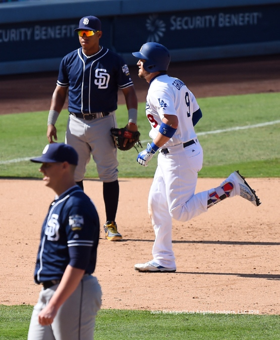 Yasmani Grandal rounds the bases after hitting a two-run homer off Padres reliever Ryan Butcher in the seventh inning. LOS ANGELES - AUGUST 23:  San Francisco Giants against the Los Angeles Dodgers on August 24, 2016 at Dodger Stadium in Los Angeles, California. LOS ANGELES - AUGUST 23:  San Francisco Giants against the Los Angeles Dodgers on August 24, 2016 at Dodger Stadium in Los Angeles, California. LOS ANGELES - AUGUST 23:  San Francisco Giants against the Los Angeles Dodgers on August 24, 2016 at Dodger Stadium in Los Angeles, California. LOS ANGELES - AUGUST 23:  San Francisco Giants against the Los Angeles Dodgers on August 24, 2016 at Dodger Stadium in Los Angeles, California. LOS ANGELES - AUGUST 24:  San Francisco Giants against the Los Angeles Dodgers on August 24, 2016 at Dodger Stadium in Los Angeles, California. LOS ANGELES - AUGUST 24:  San Francisco Giants against the Los Angeles Dodgers on August 24, 2016 at Dodger Stadium in Los Angeles, California. LOS ANGELES - AUGUST 23:  San Francisco Giants against the Los Angeles Dodgers on August 24, 2016 at Dodger Stadium in Los Angeles, California. LOS ANGELES - AUGUST 23:  San Francisco Giants against the Los Angeles Dodgers on August 24, 2016 at Dodger Stadium in Los Angeles, California. LOS ANGELES - AUGUST 23:  San Francisco Giants against the Los Angeles Dodgers on August 24, 2016 at Dodger Stadium in Los Angeles, California. LOS ANGELES - AUGUST 23:  San Francisco Giants against the Los Angeles Dodgers on August 24, 2016 at Dodger Stadium in Los Angeles, California. LOS ANGELES - AUGUST 24:  San Francisco Giants against the Los Angeles Dodgers on August 24, 2016 at Dodger Stadium in Los Angeles, California. LOS ANGELES - AUGUST 23:  San Francisco Giants against the Los Angeles Dodgers on August 24, 2016 at Dodger Stadium in Los Angeles, California. LOS ANGELES - AUGUST 23:  San Francisco Giants against the Los Angeles Dodgers on August 24, 2016 at Dodger Stadium in Los Angeles, California. LOS ANGELES - AUGUST 23:  San Francisco Giants against the Los Angeles Dodgers on August 24, 2016 at Dodger Stadium in Los Angeles, California. LOS ANGELES - AUGUST 23:  San Francisco Giants against the Los Angeles Dodgers on August 24, 2016 at Dodger Stadium in Los Angeles, California. LOS ANGELES - AUGUST 24:  San Francisco Giants against the Los Angeles Dodgers on August 24, 2016 at Dodger Stadium in Los Angeles, California. LOS ANGELES - AUGUST 23:  San Francisco Giants against the Los Angeles Dodgers on August 24, 2016 at Dodger Stadium in Los Angeles, California. LOS ANGELES - AUGUST 23:  San Francisco Giants against the Los Angeles Dodgers on August 24, 2016 at Dodger Stadium in Los Angeles, California. LOS ANGELES - AUGUST 23:  San Francisco Giants against the Los Angeles Dodgers on August 24, 2016 at Dodger Stadium in Los Angeles, California. LOS ANGELES - AUGUST 23:  San Francisco Giants against the Los Angeles Dodgers on August 24, 2016 at Dodger Stadium in Los Angeles, California. LOS ANGELES - AUGUST 23:  San Francisco Giants against the Los Angeles Dodgers on August 24, 2016 at Dodger Stadium in Los Angeles, California. LOS ANGELES - AUGUST 23:  San Francisco Giants against the Los Angeles Dodgers on August 24, 2016 at Dodger Stadium in Los Angeles, California. LOS ANGELES - AUGUST 23:  San Francisco Giants against the Los Angeles Dodgers on August 24, 2016 at Dodger Stadium in Los Angeles, California. LOS ANGELES - AUGUST 23:  San Francisco Giants against the Los Angeles Dodgers on August 24, 2016 at Dodger Stadium in Los Angeles, California. LOS ANGELES - AUGUST 24:  San Francisco Giants against the Los Angeles Dodgers on August 24, 2016 at Dodger Stadium in Los Angeles, California. LOS ANGELES - AUGUST 23:  San Francisco Giants against the Los Angeles Dodgers on August 24, 2016 at Dodger Stadium in Los Angeles, California. LOS ANGELES - AUGUST 23:  San Francisco Giants against the Los Angeles Dodgers on August 24, 2016 at Dodger Stadium in Los Angeles, California. LOS ANGELES - AUGUST 23:  San Francisco Giants against the Los Angeles Dodgers on August 24, 2016 at Dodger Stadium in Los Angeles, California. LOS ANGELES - AUGUST 23:  San Francisco Giants against the Los Angeles Dodgers on August 24, 2016 at Dodger Stadium in Los Angeles, California. LOS ANGELES - AUGUST 23:  San Francisco Giants against the Los Angeles Dodgers on August 24, 2016 at Dodger Stadium in Los Angeles, California. LOS ANGELES - SEPTEMBER 1:  Los Angeles Dodgers Bark In The Park event on September 1, 2012 at Dodger Stadium in Los Angeles, California.LOS ANGELES - AUGUST 24:  San Francisco Giants against the Los Angeles Dodgers on August 24, 2016 at Dodger Stadium in Los Angeles, California. LOS ANGELES - AUGUST 24:  San Francisco Giants against the Los Angeles Dodgers on August 24, 2016 at Dodger Stadium in Los Angeles, California. LOS ANGELES - AUGUST 23:  San Francisco Giants against the Los Angeles Dodgers on August 24, 2016 at Dodger Stadium in Los Angeles, California. LOS ANGELES - AUGUST 23:  San Francisco Giants against the Los Angeles Dodgers on August 24, 2016 at Dodger Stadium in Los Angeles, California. LOS ANGELES - AUGUST 23:  San Francisco Giants against the Los Angeles Dodgers on August 24, 2016 at Dodger Stadium in Los Angeles, California. LOS ANGELES - AUGUST 23:  San Francisco Giants against the Los Angeles Dodgers on August 24, 2016 at Dodger Stadium in Los Angeles, California. LOS ANGELES - AUGUST 24:  San Francisco Giants against the Los Angeles Dodgers on August 24, 2016 at Dodger Stadium in Los Angeles, California. LOS ANGELES - AUGUST 23:  San Francisco Giants against the Los Angeles Dodgers on August 24, 2016 at Dodger Stadium in Los Angeles, California. LOS ANGELES - AUGUST 23:  San Francisco Giants against the Los Angeles Dodgers on August 24, 2016 at Dodger Stadium in Los Angeles, California. LOS ANGELES - AUGUST 23:  San Francisco Giants against the Los Angeles Dodgers on August 24, 2016 at Dodger Stadium in Los Angeles, California. LOS ANGELES - AUGUST 23:  San Francisco Giants against the Los Angeles Dodgers on August 24, 2016 at Dodger Stadium in Los Angeles, California. LOS ANGELES - AUGUST 24:  San Francisco Giants against the Los Angeles Dodgers on August 24, 2016 at Dodger Stadium in Los Angeles, California. LOS ANGELES - AUGUST 23:  San Francisco Giants against the Los Angeles Dodgers on August 24, 2016 at Dodger Stadium in Los Angeles, California. LOS ANGELES - AUGUST 23:  San Francisco Giants against the Los Angeles Dodgers on August 24, 2016 at Dodger Stadium in Los Angeles, California. LOS ANGELES - AUGUST 23:  San Francisco Giants against the Los Angeles Dodgers on August 24, 2016 at Dodger Stadium in Los Angeles, California. LOS ANGELES - AUGUST 23:  San Francisco Giants against the Los Angeles Dodgers on August 24, 2016 at Dodger Stadium in Los Angeles, California. LOS ANGELES - AUGUST 24:  San Francisco Giants against the Los Angeles Dodgers on August 24, 2016 at Dodger Stadium in Los Angeles, California. LOS ANGELES - AUGUST 23:  San Francisco Giants against the Los Angeles Dodgers on August 24, 2016 at Dodger Stadium in Los Angeles, California. LOS ANGELES - AUGUST 23:  San Francisco Giants against the Los Angeles Dodgers on August 24, 2016 at Dodger Stadium in Los Angeles, California. LOS ANGELES - AUGUST 23:  San Francisco Giants against the Los Angeles Dodgers on August 24, 2016 at Dodger Stadium in Los Angeles, California. LOS ANGELES - AUGUST 23:  San Francisco Giants against the Los Angeles Dodgers on August 24, 2016 at Dodger Stadium in Los Angeles, California. LOS ANGELES - AUGUST 23:  San Francisco Giants against the Los Angeles Dodgers on August 24, 2016 at Dodger Stadium in Los Angeles, California. LOS ANGELES - AUGUST 24:  San Francisco Giants against the Los Angeles Dodgers on August 24, 2016 at Dodger Stadium in Los Angeles, California. LOS ANGELES - AUGUST 23:  San Francisco Giants against the Los Angeles Dodgers on August 24, 2016 at Dodger Stadium in Los Angeles, California. LOS ANGELES - AUGUST 23:  San Francisco Giants against the Los Angeles Dodgers on August 24, 2016 at Dodger Stadium in Los Angeles, California. LOS ANGELES - AUGUST 23:  San Francisco Giants against the Los Angeles Dodgers on August 24, 2016 at Dodger Stadium in Los Angeles, California. LOS ANGELES - AUGUST 23:  San Francisco Giants against the Los Angeles Dodgers on August 24, 2016 at Dodger Stadium in Los Angeles, California. LOS ANGELES - AUGUST 23:  San Francisco Giants against the Los Angeles Dodgers on August 24, 2016 at Dodger Stadium in Los Angeles, California.