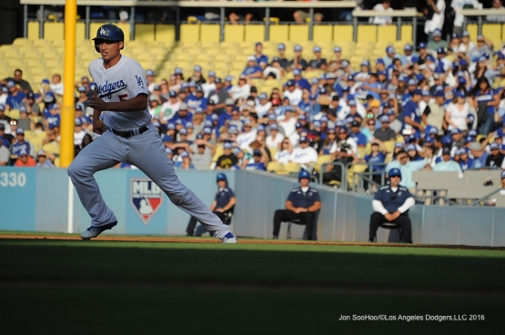 Corey Seager during game against the Arizona Diamondbacks Monday, September 5, 2016 at Dodger Stadium. Photo by Jon SooHoo/©Los Angeles Dodgers,LLC 2016