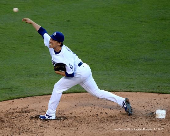 Kenta Maeda pitches against the Arizona Diamondbacks Monday, September 5, 2016 at Dodger Stadium. Photo by Jon SooHoo/©Los Angeles Dodgers,LLC 2016