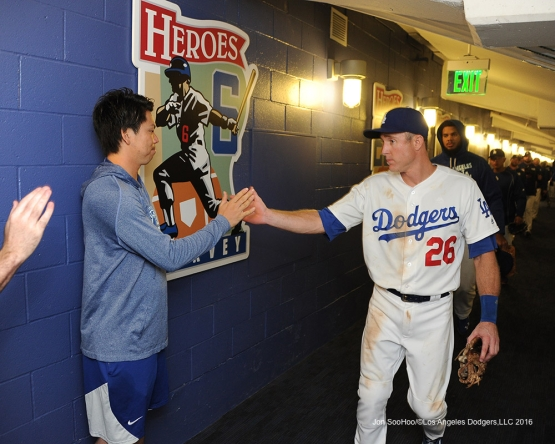 Los Angeles Dodgers defeat the Arizona Diamondbacks 10-2  Monday, September 5, 2016 at Dodger Stadium. Photo by Jon SooHoo/©Los Angeles Dodgers,LLC 2016