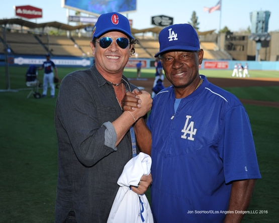 Columbia's popular musician Carlos Vives poses prior to game against the Arizona Diamondbacks Tuesday, September 6, 2016 at Dodger Stadium. Photo by Jon SooHoo/©Los Angeles Dodgers,LLC 2016