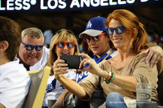 Great Los Angeles Dodgers fans during game against the Arizona Diamondbacks Tuesday, September 6, 2016 at Dodger Stadium. Photo by Jon SooHoo/©Los Angeles Dodgers,LLC 2016