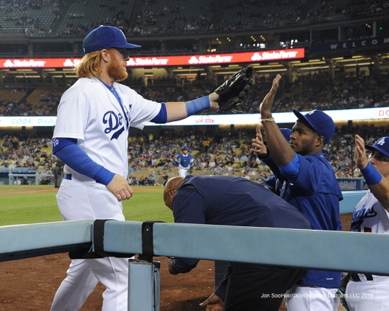 Justin Turner during game against the Arizona Diamondbacks Tuesday, September 6, 2016 at Dodger Stadium. Photo by Jon SooHoo/©Los Angeles Dodgers,LLC 2016