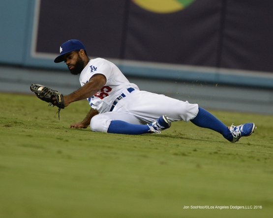 Andrew Toles during game against the Arizona Diamondbacks Tuesday, September 6, 2016 at Dodger Stadium. Photo by Jon SooHoo/©Los Angeles Dodgers,LLC 2016