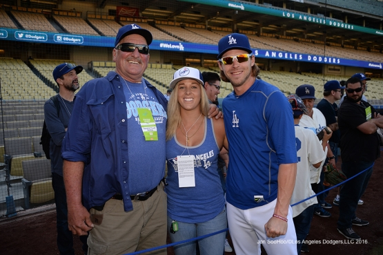 Great Los Angeles Dodgers fans pose prior to game against the Arizona Diamondbacks Wednesday, September 7, 2016 at Dodger Stadium. Photo by Jon SooHoo/©Los Angeles Dodgers,LLC 2016