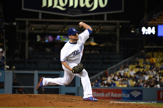 Luis Avilan pitches against the Arizona Diamondbacks Wednesday, September 7, 2016 at Dodger Stadium. Photo by Jon SooHoo/©Los Angeles Dodgers,LLC 2016