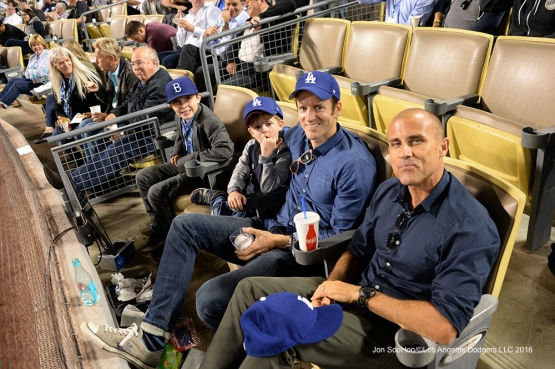 Great Los Angeles Dodger fans pose during game against the Arizona Diamondbacks Wednesday, September 7, 2016 at Dodger Stadium. Photo by Jon SooHoo/©Los Angeles Dodgers,LLC 2016