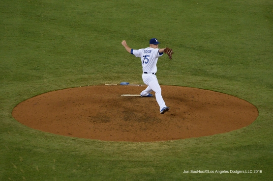Grant Dayton during game against the Arizona Diamondbacks Wedneday, September 7, 2016 at Dodger Stadium. Photo by Jon SooHoo/©Los Angeles Dodgers,LLC 2016