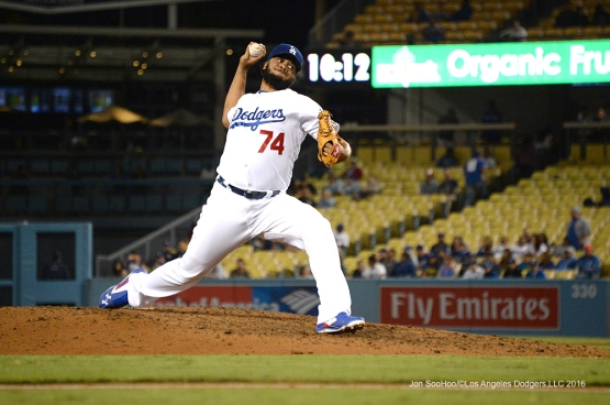 Kenley Jansen during game against the Arizona Diamondbacks Wednesday, September 7, 2016 at Dodger Stadium. Photo by Jon SooHoo/©Los Angeles Dodgers,LLC 2016