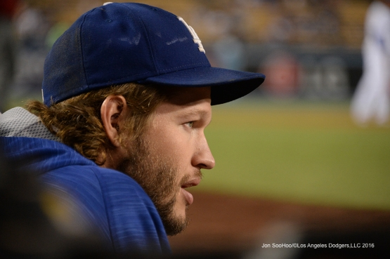 Clayton Kershaw during game against the Arizona Diamondbacks Wednesday, September 7, 2016 at Dodger Stadium. Photo by Jon SooHoo/©Los Angeles Dodgers,LLC 2016