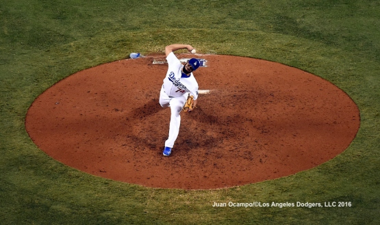 Kenley Jansen closes the game out in the ninth inning.