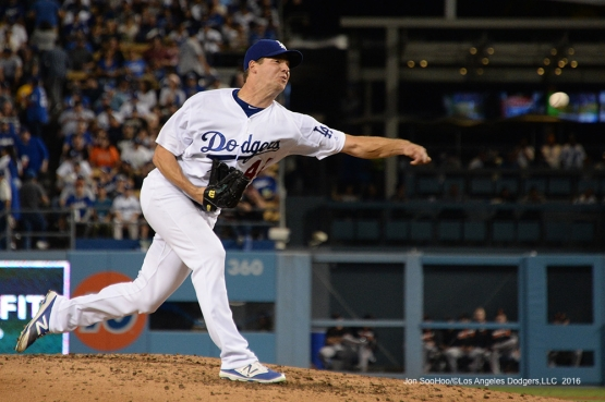 Rich Hill during game against the San Francisco Giants Tuesday, September 20, 2016 at Dodger Stadium. Photo by Jon SooHoo/©Los Angeles Dodgers,LLC 2016