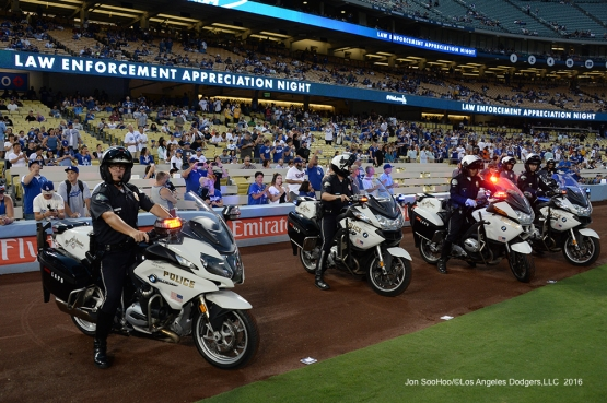 Los Angeles Dodgers honor Law Enforcement Appreciation Night Wednesday, September 21, 2016 at Dodger Stadium. Photo by Jon SooHoo/©Los Angeles Dodgers,LLC 2016