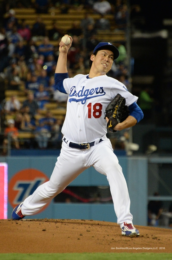 Kenta Maeda during game against the San Francisco Giants Wednesday, September 21, 2016 at Dodger Stadium. Photo by Jon SooHoo/©Los Angeles Dodgers,LLC 2016