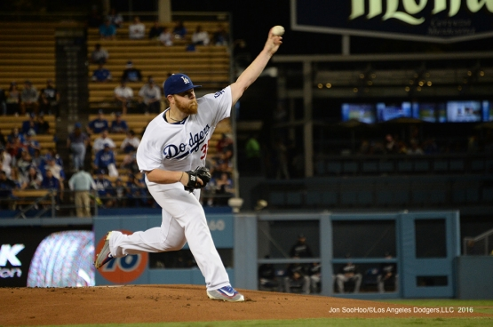 Brett Anderson pitches to the Colorado Rockies Thursday, September 22, 2016 at Dodger Stadium. Photo by Jon SooHoo/©Los Angeles Dodgers,LLC 2016