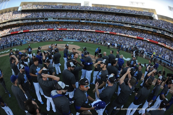 Los Angeles Dodgers vs the Colorado Rockies Sunday, September 25, 2016 at Dodger Stadium. Photo by Jon SooHoo/©Los Angeles Dodgers,LLC 2016