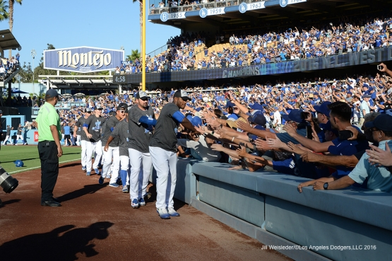 LOS ANGELES, CA - SEPTEMBER 25:  Colorado Rockies against the Los Angeles Dodgers on September 25, 2016 at Dodger Stadium in Los Angeles, California. Jill Weisleder/Dodgers