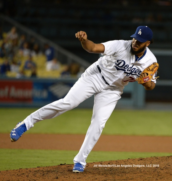 Kenley Jansen follows through on a pitch. Jill Weisleder/Dodgers