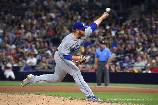 Brett Anderson pitches to the San Diego Padres Thursday, September 29, 2016 at Petco Park. Photo by Jon SooHoo/©Los Angeles Dodgers,LLC 2016