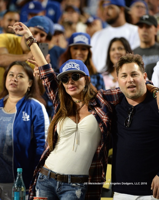 Dodger fans show their support during the game. Jill Weisleder/Dodgers