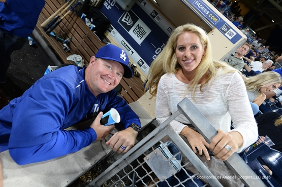 Matt and Jane Herges Thursday, September 29, 2016 at Petco Park. Photo by Jon SooHoo/©Los Angeles Dodgers,LLC 2016