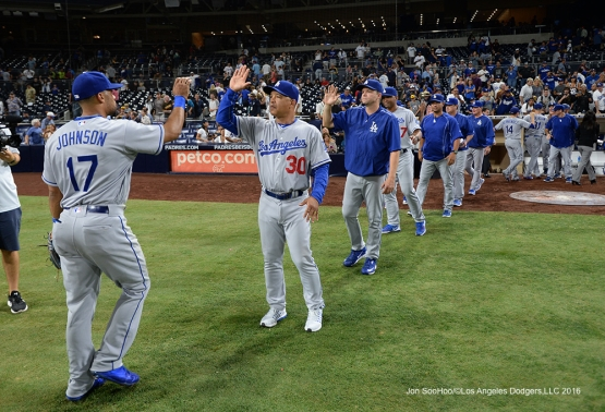 Los Angeles Dodgers defeat the San Diego Padres 9-4 Thursday, September 29, 2016 at Petco Park. Photo by Jon SooHoo/©Los Angeles Dodgers,LLC 2016