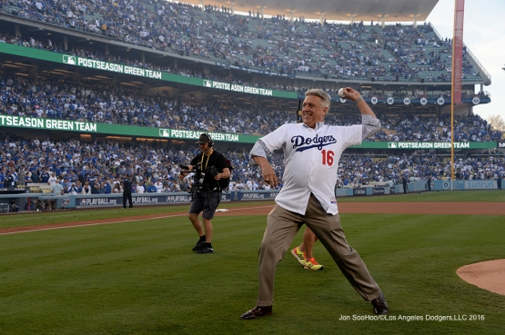 2016 NLCS Game 3---Rick Monday-Los Angeles Dodgers vs Chicago Cubs Tuesday, October 18, 2016 at Dodger Stadium in Los Angeles, California. Photo by Jon SooHoo/© Los Angeles Dodgers, LLC 2016