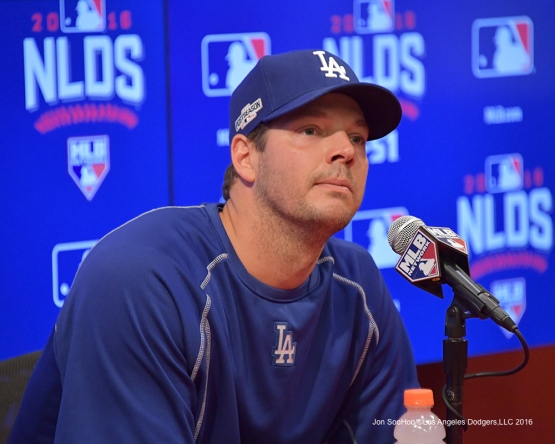 2016 NLDS Game One---Rich Hill--Los Angeles Dodgers vs Washington Nationals  Friday, October 7, 2016 at Nationals Park in Washington,DC.  Photo by Jon SooHoo/©Los Angeles Dodgers,LLC 2016