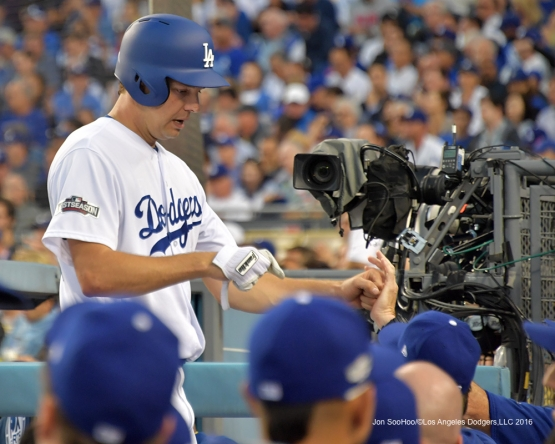 2016 NLCS Game 3---Rich Hill-Los Angeles Dodgers vs Chicago Cubs Tuesday, October 18, 2016 at Dodger Stadium in Los Angeles, California. Photo by Jon SooHoo/© Los Angeles Dodgers, LLC 2016