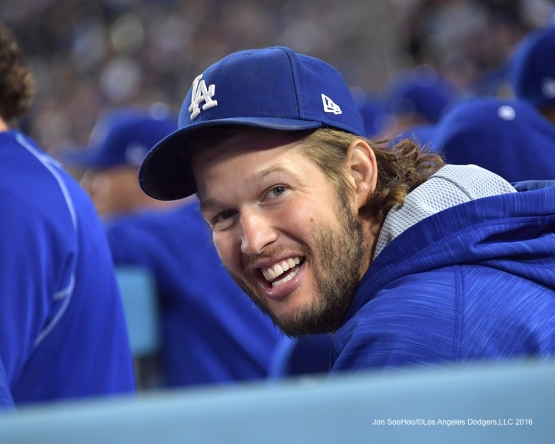 2016 NLCS Game 3---Clayton Kershaw-Los Angeles Dodgers vs Chicago Cubs Tuesday, October 18, 2016 at Dodger Stadium in Los Angeles, California. Photo by Jon SooHoo/© Los Angeles Dodgers, LLC 2016