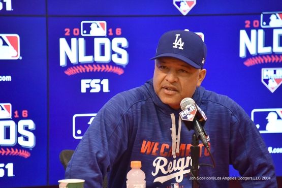 Dave Roberts---Los Angeles Dodgers workout Thursday, October 6, 2016 at Nationals Park in Washington,DC. Photo by Jon SooHoo/©Los Angeles Dodgers,LLC 2016