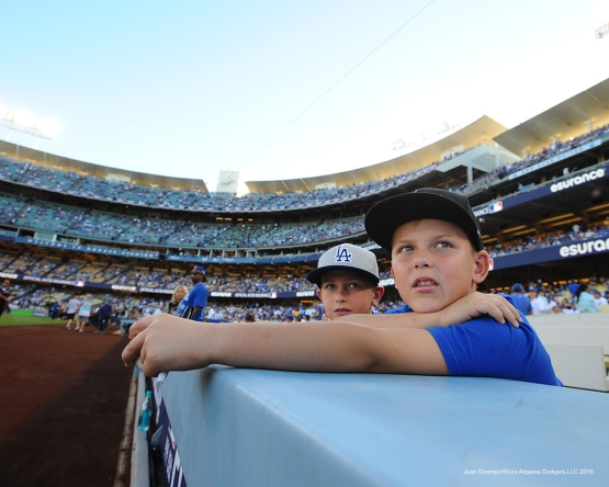 2016 NLCS Game 5---Chicago Cubs vs Los Angeles Dodgers Thursday, October 20, 2016 at Dodger Stadium in Los Angeles, California. Photo by Juan Ocampo/© Los Angeles Dodgers, LLC 2016