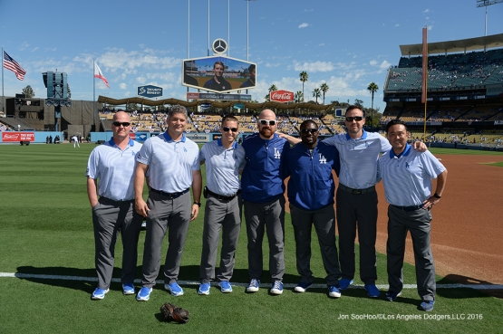 2016 NLDS Game 3---GREAT Dodgers training staff--Los Angeles Dodgers vs Washington Nationals Monday, October 10, 2016 at Dodger Stadium in Los Angeles, California. Photo by Jon SooHoo/© Los Angeles Dodgers, LLC 2016