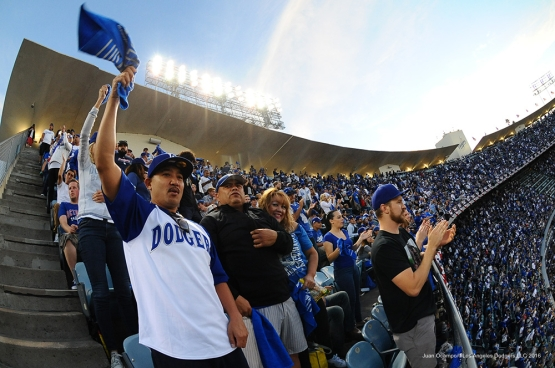 2016 NLCS Game 3---Los Angeles Dodgers vs Chicago Cubs Tuesday, October 18, 2016 at Dodger Stadium in Los Angeles, California. Photo by Juan Ocampo/© Los Angeles Dodgers, LLC 2016