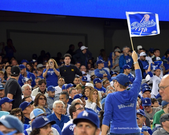 2016 NLCS Game 3---Great Dodger fans-Los Angeles Dodgers vs Chicago Cubs Tuesday, October 18, 2016 at Dodger Stadium in Los Angeles, California. Photo by Jon SooHoo/© Los Angeles Dodgers, LLC 2016