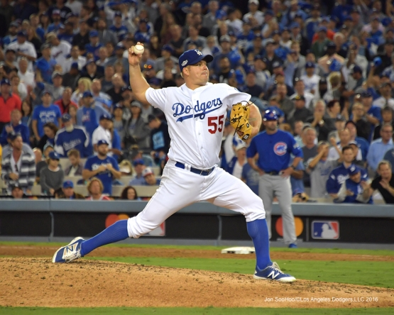 2016 NLCS Game 3---Joe Blanton-Los Angeles Dodgers vs Chicago Cubs Tuesday, October 18, 2016 at Dodger Stadium in Los Angeles, California. Photo by Jon SooHoo/© Los Angeles Dodgers, LLC 2016