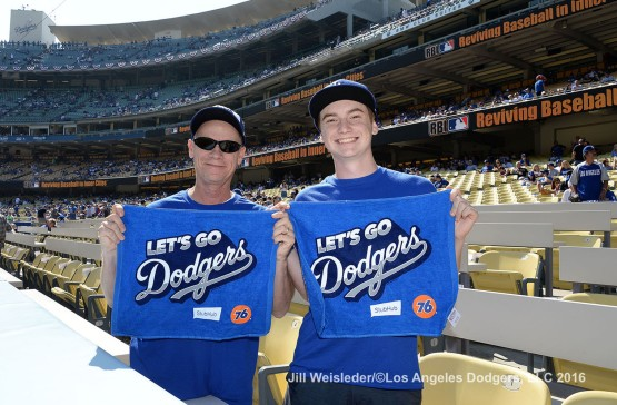 2016 NLDS Game 4---Great Dodger fans--Los Angeles Dodgers vs Washington Nationals Tuesday, October 11, 2016 at Dodger Stadium in Los Angeles, California. Photo by Jill Weisleder/© Los Angeles Dodgers, LLC 2016