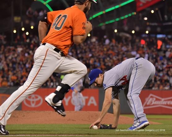 Los Angeles Dodgers at the San Francisco Friday, September 30, 2016 at AT&T Park. Photo by Jon SooHoo/©Los Angeles Dodgers,LLC 2016