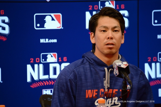 2016 NLDS Game Two---Kenta Maeda--Los Angeles Dodgers vs Washington Nationals  Sunday, October 9, 2016 at Nationals Park in Washington,DC.  Photo by Jon SooHoo/©Los Angeles Dodgers,LLC 2016