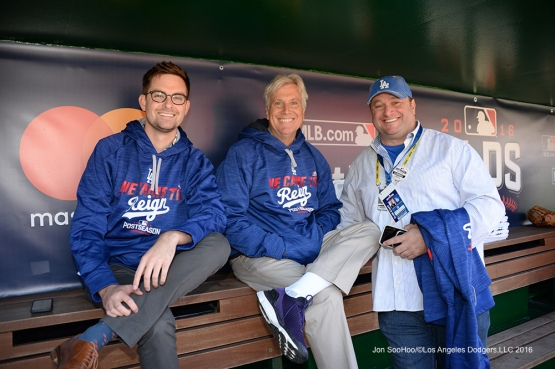 2016 NLDS Game Two---Mark Walter and guests-Los Angeles Dodgers vs Washington Nationals  Sunday, October 9, 2016 at Nationals Park in Washington,DC.  Photo by Jon SooHoo/©Los Angeles Dodgers,LLC 2016