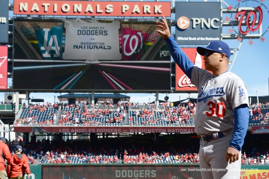 2016 NLDS Game Two---Los Angeles Dodgers vs Washington Nationals  Sunday, October 9, 2016 at Nationals Park in Washington,DC.  Photo by Jon SooHoo/©Los Angeles Dodgers,LLC 2016